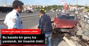 Kazada Yaralanan Kadının Cüzdanını Alıp Kaçtılar