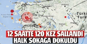 Manisa'da peş peşe 9 deprem! Halk sokağa döküldü