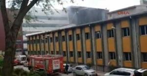 Mehmet Akif Ersoy Hastanesi'nde yangın
