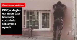 PKK'ya Dağları Dar Eden Özel Harekat Polisi, Çocuklarla Saklambaç Oynadı
