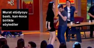 Stüdyoya Baskın Yapan Murat Dalkılıç, Eşi Merve Boluğur'la Düet Yaptı
