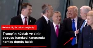 Trump Aile Fotoğrafında Öne Geçmek İçin Başbakanı Omzuna Vurup İtti