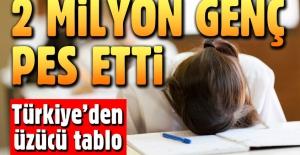 Türkiye'de 2 milyon genç okulu bıraktı