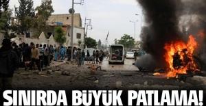 Türkiye sınırında büyük patlama oldu!