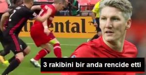 Ünlü Futbolcu Schweinsteiger, 3 Rakibini Rencide Etti