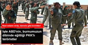 """ABD'nin Eğitim Kampında Eğitilen PKK'lı Teröristlerin """"Mezuniyet"""" Görüntüleri Ortaya Çıktı"""