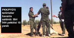 Afrin'deki PKK/YPG'li Teröristler Azez'e Saldırdı: İHH Yetkilisi Dahil 15 Yaralı