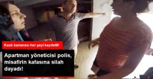 Apartman Yöneticisi Polis, Komşusunun Misafirinin Kafasına Silah Dayadı