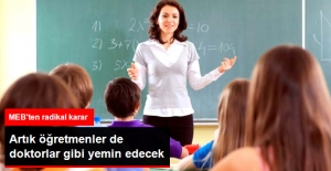 Artık Öğretmenler de Yemin Ederek Mesleğe Başlayacak