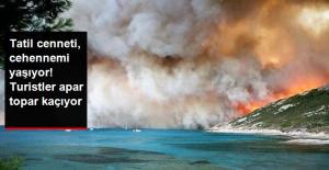 Fransa'daki Orman Yangını Söndürülemiyor! 10 Bin Kişi Bölgeyi Terk Etti