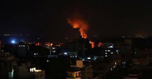 İşgalci İsrail, Gazze'yi vurdu!
