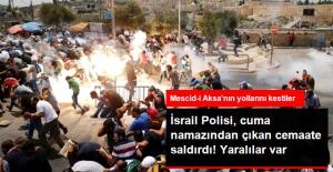 İsrail Polisi, Cuma Namazı Çıkışında Yollarda Cemaate Saldırdı! Çok Sayıda Yaralı Var