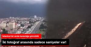 İstanbul 5 Dakika İçinde Karanlığa Gömüldü