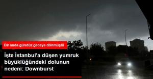 İstanbul'a Düşen Yumruk Büyüklüğündeki Dolunun Nedeni Belli Oldu: Downburst
