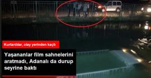 Kamyonet Sulama Kanalına Düştü, Kurtarılan Şoför Olay Yerinden Kaçtı