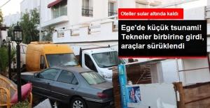 Muğla'da Depremin Ardından Deniz Suyu 100 Metre İçeriye Girdi! Tekne ve Araçlar Sürüklendi