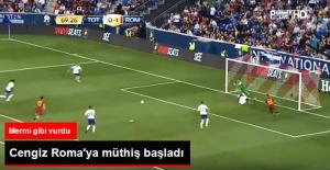 Roma'da Oynayan Cengiz Ünder, Tottenham Maçında İlk Golünü Attı