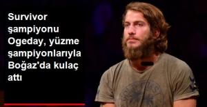 Survivor Şampiyonu Ogeday Dünya Yüzme Şampiyonları ile Boğaz'da Yarıştı