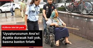 Uyuşturucunun Ana'sı Gazetecilere Baston Fırlattıp, Küfür Etti
