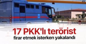 17 PKK'lı terörist firar etmek isterken yakalandı