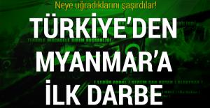 Arakanlıları katleden Myanmar'a Türkiye'den ilk darbe