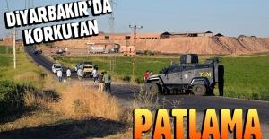Diyarbakır'da yola tuzaklanan patlayıcı infilak etti