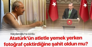 Erdoğan'dan Kılıçdaroğlu'nun atletli fotoğrafına tepki