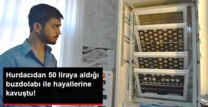 Hurdadan 50 Liraya Aldığı Buzdolabını, Kuluçka Makinesine Dönüştürerek Civciv Yetiştirdi