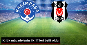 Süper Lig'deki Kasımpaşa-Beşiktaş Maçının İlk 11'leri Belli Oldu