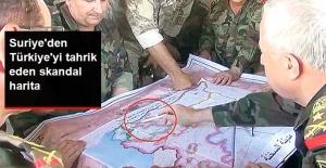 Suriye'den Türkiye'yi Tahrik Eden Harita: Hatay'ı Suriye Sınırlarına Aldılar