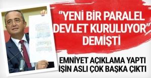 Tezcan'ın 'Yeni bir paralel devlet kuruluyor' iddiasına Emniyet'ten yanıt