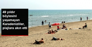 49 Yıl Sonra En Sıcak Eylül Ayı Yaşayan Samsunlular, Plajlara Akın Etti