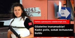 Adana'da Kadın Polis, Sokak Levhasında 50 Paket Esrar Buldu