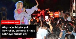 Adana'da Seyirciler Aleyna Tilki'ye Yumurta Fırlattı, Ardından Sahneye Hücum Etti