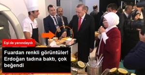Cumhurbaşkanı Erdoğan, Fuarda Tattığı Bulgurdan Yapılan Bisküviyi Çok Beğendi