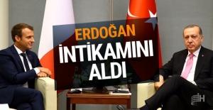 Erdoğan Macron'dan intikamanı aldı tweete bakın!