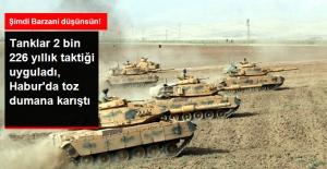 Habur Sınır Kapısında Tanklar 2 Bin 226 Yıllık Hilal Taktiğiyle Tatbikat Yaptı