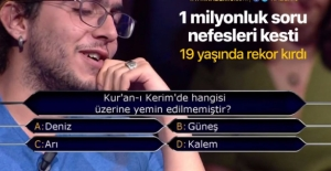 Kim Milyoner Olmak İster'de 1 milyonluk soru ve şıkları
