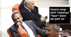 """Partilerin Tezkere Oylarının Rengi Belli! """"Hayır' Diyen Tek Parti HDP"""