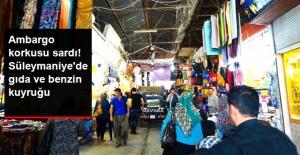 Referandum Sonrası Ambargo Korkusu Sardı! Süleymaniye'de Gıda ve Benzin Kuyruğu