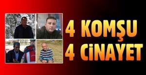 4 farklı ilde 4 cinayet!