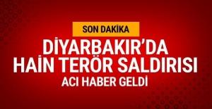 Diyarbakır'da alçak saldırı! Acı haber geldi