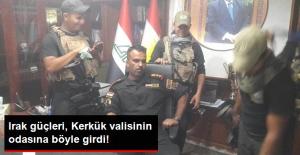 Irak Güçleri, Kerkük Valisinin Odasına Böyle Girdi!