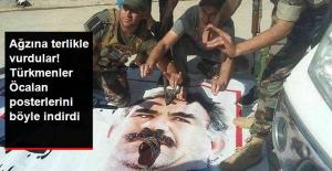 Kerkük'te Türkmenler, PKK'nın Astığı Öcalan Posterlerini Söktü