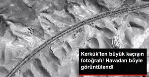 Kerkük'ten Büyük Kaçış, Rus Uydusu Tarafından Böyle Görüntülendi