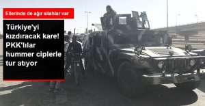 Kerkük'ten Şok Kareler! PKK'lı Teröristler Hummer Ciplerle Tur Atıyor