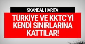 Skandal! Türkiye ve Kıbrıs'ı kendi sınırlarında gösterdiler