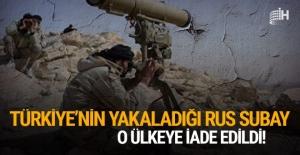 Türkiye'nin yakaladığı Rus subay, o ülkeye iade edildi!