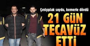Adana#039;da iğrenç olay! Kemerle,...