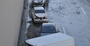 Ankara'da altgeçit dondu! 23 araç birbirine girdi!